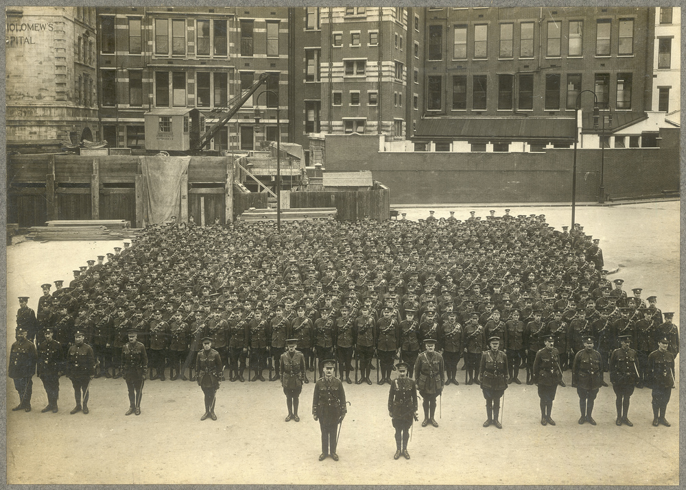 The 8th Battalion City of London Regiment (Post Office Rifles) spent their last night before departing for France in King Edward Building (POST 56/6)